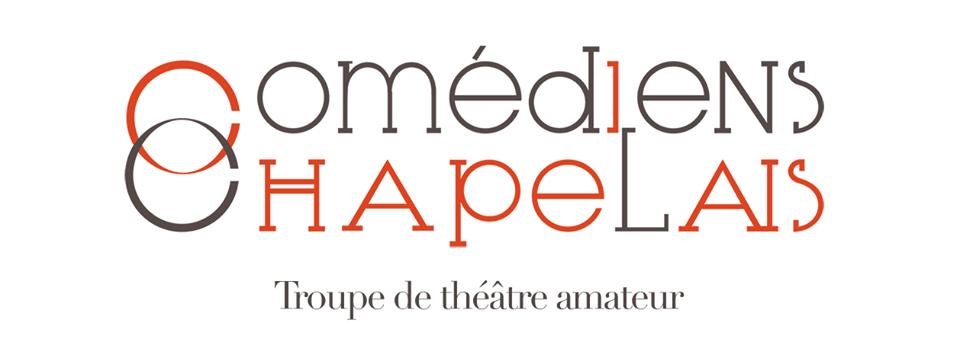 Logo comédiens Chapelais 2017 par Signé Marion