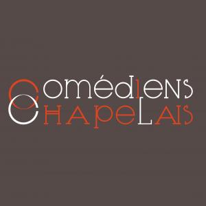 Déclinaison grise du logo des Comédiens Chapelais, réalisation Signé Marion - agence de communication éditoriale et web en Vendée